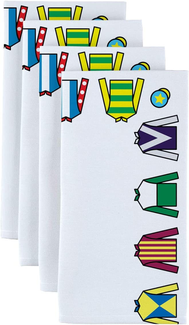 Fabric Excellence Textile Bargain Products Jockey Silks Napkins x 18