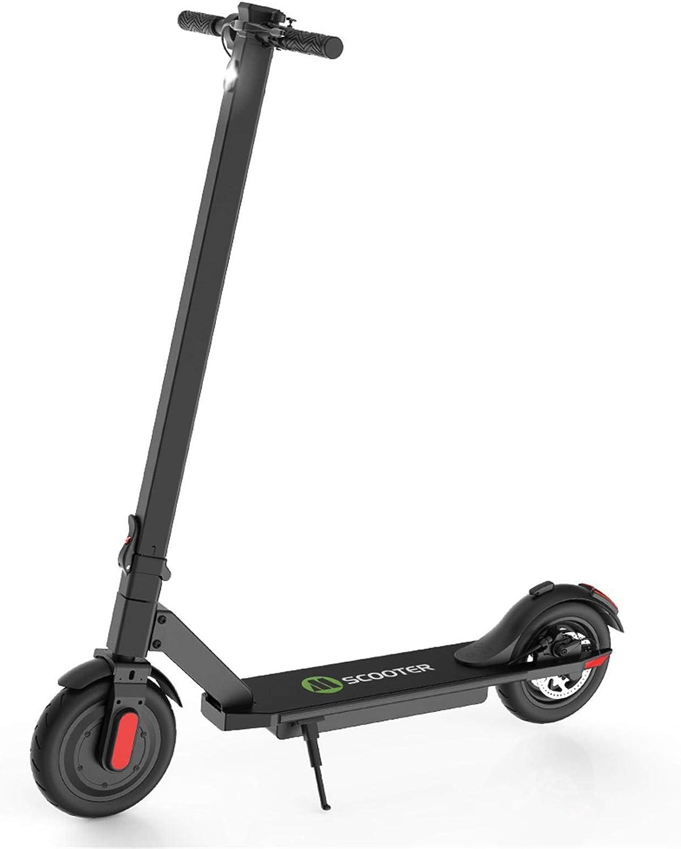 Scooter eléctrico portátil Plegable para desplazamientos al Trabajo Kick-Start Boost Scooter para Adolescentes/Adultos con neumáticos de 8,5 Pulgadas, 2 velocidades, Velocidad máxima de 25 km/h