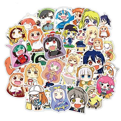 BAIMENG Anime Himouto Umaru-Chan - Pegatinas de dibujos animados para equipaje, motor, coche, maleta, portátil, 50 unidades