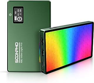 Soonpho RGB LED Video Light,On-Camera Lighting 360° Full Color,Mini Pocket Light for YouTube Video or Vlog,4000mAh Recharg...
