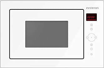 MICROONDAS INTEGRACION IMW-WLG52 INFINITON (CRISTAL BLANCO, 25L, Potencia 900W, Grill 1000W, Capacidad 25l, Plato 31,5 cm, Descongelador)