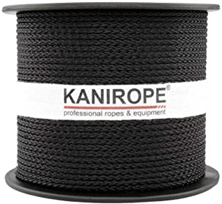 Kanirope PP Seil Polypropylenseil MULTIBRAID 1mm 100m Farbe Schwarz 1811 8x geflochten