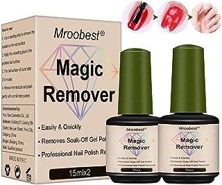 Magic Nail Polish Remover, Magic Gel Remover, Gel Polish Remover, Easily & Quickly Removes Soak-Off Gel Polish, Don't Hurt Your Nails - 15Ml(2PCS)