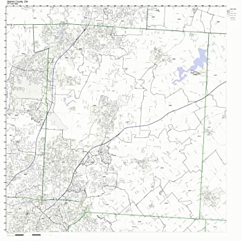 Warren County Ohio OH ZIP Code Map Not Laminated