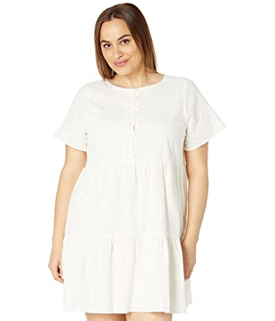 Madewell Embroidered Eyelet Notch-Neck Tiered Mini Dress