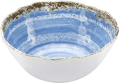 12-Piece Melamine Dinnerware Set - for Outdoor/Indoor Use, Shatterproof, Lightweight, BPA Free, Service for 4 Rustic Blue