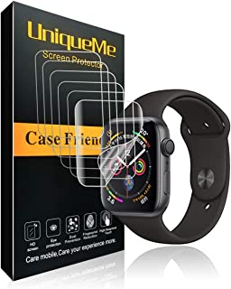 INGLE [6 Pack] for Apple Watch Series 4 / Series 5 Screen Protector (40mm), [Anti-Bubble] Full Coverage Film with Lifetime Replacement Warranty