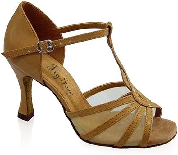 Chaussures de Danse Latine Mme Chaussures Modernes Chaussures de Danse de l'amitié Doux Chaussures de Danse de Fond