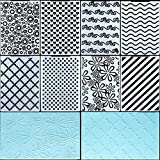 8 Pieces Plastic Embossing Folders DIY Craft Template Paper Card Embossing Folder Stencil for Card Making DIY Flower Scrapbook Photo Album Craft Decoration, 5.9 x 4.1 Inch