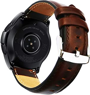 OTOPO for Garmin Vivoactive 3 Bands/Galaxy Watch 42mm Band/Ticwatch E Band, 20mm Quick Release Luxury Genuine Leather Stra...