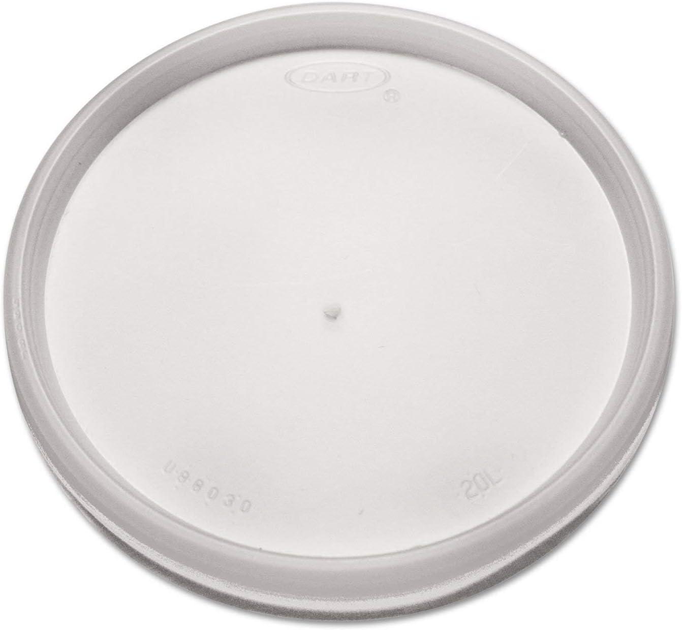 DART 20JL Plastic Lids for 8 12 16oz Hot/Cold Foam Cups Vented 1000/Carton