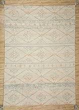 Jaipur Rugs Modern Ivory 7X10 Feet Wool Geometric Rug and Carpet