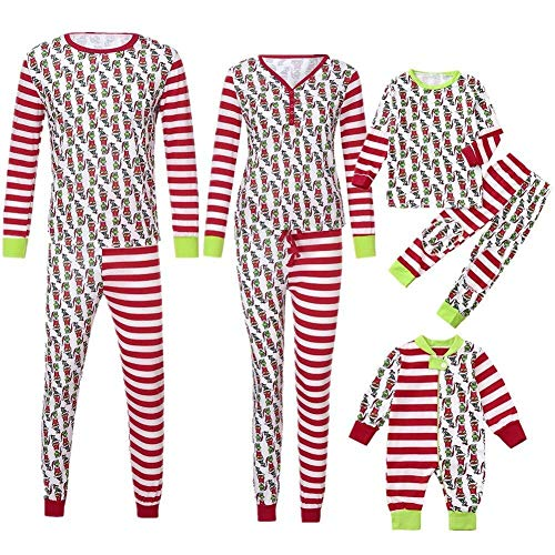 Hulday Pigiama per La Famiglia di Natale Pigiama per Uomo Regali di Vacanza Pigiama per Donna Signore Bambino Neonato Abbigliamento per Famiglia Set per La Casa Set di Corrispondenza per Natale Donna