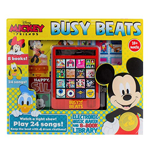 Disney Mickey Mouse - Busy Beats Electronic Music Maker and 8-Book Library - PI Kids
