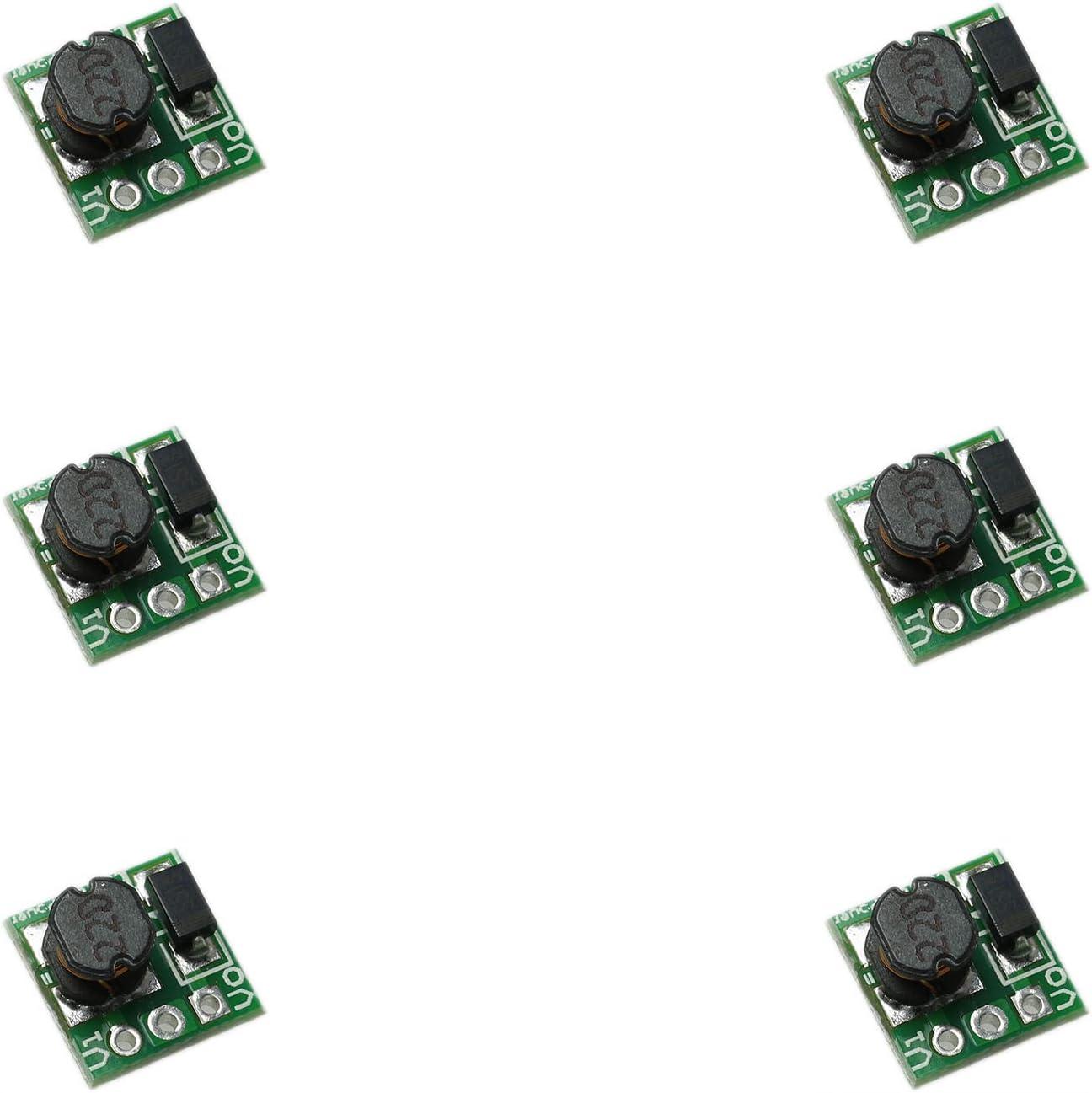 CSNSD 0.9-5V to 3.3V Step Up Power Module 6PCS 1.5V 1.8V 2.5V 3V 3.7V 4.2V 5V to 3.3V DC-DC Voltage Boost Converter Board