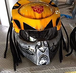 Pro Predator Motorcycle DOT Approved Helmet Bumble Bee Style include Tri Laser SY38