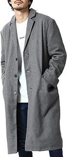 ZIP FIVE チェスターコート メンズ コート ロングコート ロング丈 長袖 ウールコート 無地 チェスター アウター ファッション 18030-34nz