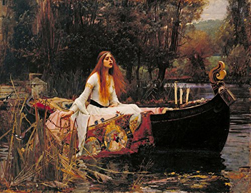 Gifts Delight Laminated 16x12 Poster: Dante Gabriel Rossetti - The Lady of Shalott Painting