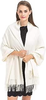 Haojing Damen Large Premium Kaschmir und Lammwolle wickeln Pashmina Wrap Schal