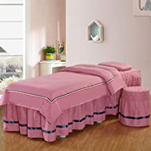 Beauty Salon Bed Skirt,Solid Color Physiotherapy Massage Mattress Cover with Face Hole,Mobile Phone Bag Design Do Not Fade...