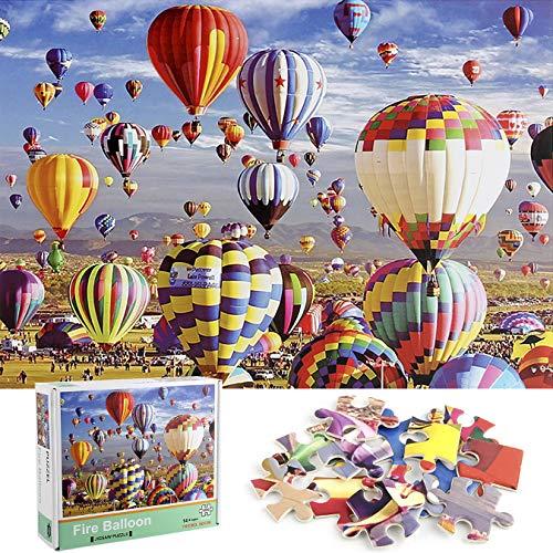Cangroo Jigsaw Puzzle 1000 Piezas Puzzles para Adultos Globo Aerostático Marvel Puzzle Paisaje De Globos Viaje En Globo Aerostático Puzzle Classic Rompecabezas Regalo(70x50cm)