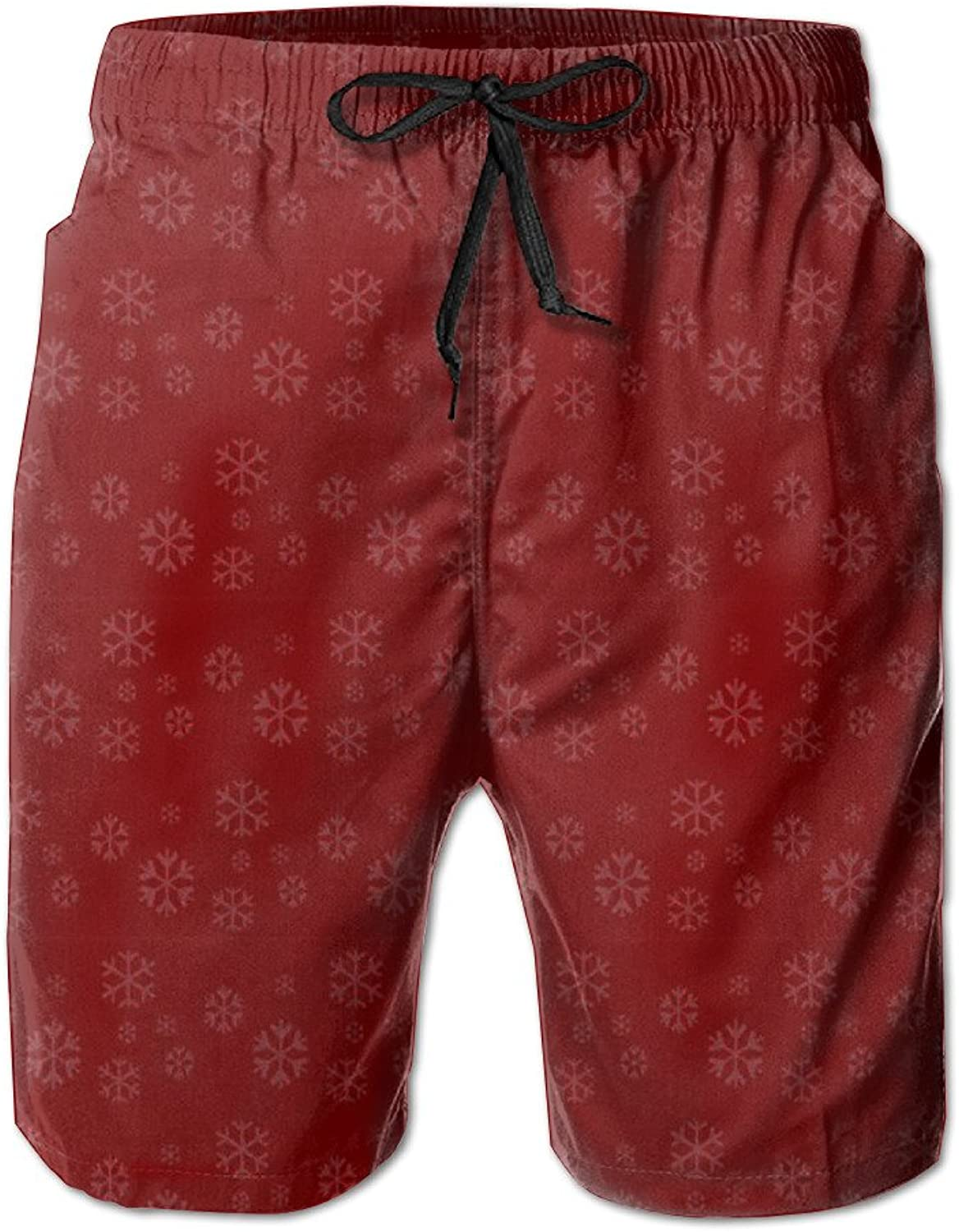 0478cc9d61 Bxse Red Flower Pattern Quick Dry Men's Shorts Summer Summer Summer Beach  Printing Pants Hot Swimming Trousers Board Shorts With Pockets 470ad2