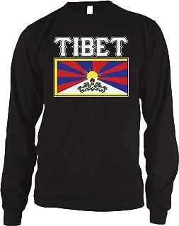 Amdesco Men's Flag of Tibet, Tibetan Flag, Snow Lion Flag Thermal Shirt