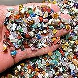 DALEI Decorativo de Piedras Irregulares Piedras de Cristal de Roca de Arena para el Acuario/Pescado Tortuga del Tanque/florero Polvo de Plantas/Aire/Plantas suculentas Decoración (2 kg)