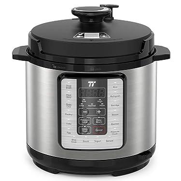 TaoTronics TT-EE006 Electric Pressure Cookbook 6QT, 10-in-1 Multi-Use, 16 Programs, Slow, Rice Cooker, Steamer, Sauté Pot, Yogurt Maker, Food Warmer, Sterilizer, 6 QT