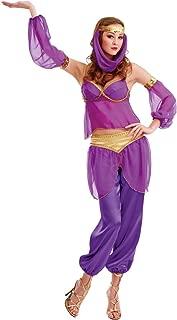 Steamy Genie Women's Halloween Costume Dreamy Arabian Dancer Harem Dress Gown