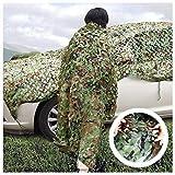 Yuany Camouflage Net Woodland - Ideal Camouflage, Caccia, Decorazione - Protezione perfetta Ombra contro il Sole 3x3m 6x4m - per campeggio, Caccia campeggio Decorazione parasole rete, più dimensio