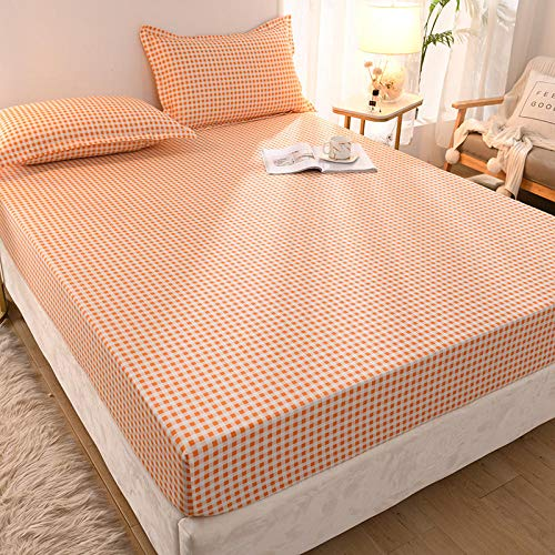 YFGY Bed Sheets Wrinkle-Resistant Double,Printed Fitted Sheet Mattress Cover Four Corners, Elastic Band Bed Sheet Bedroom For Kids R 150x200cm(3pcs)