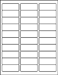 MACO Laser/Ink Jet White Address Labels, 30 Per Sheet, 500 Sheets, 15000 Labels Per Box, 1
