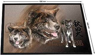 Pets-easy - Alfombra de Entrada para Perro nórdico de Akita inu, Poliamida, 40 x 60 cm