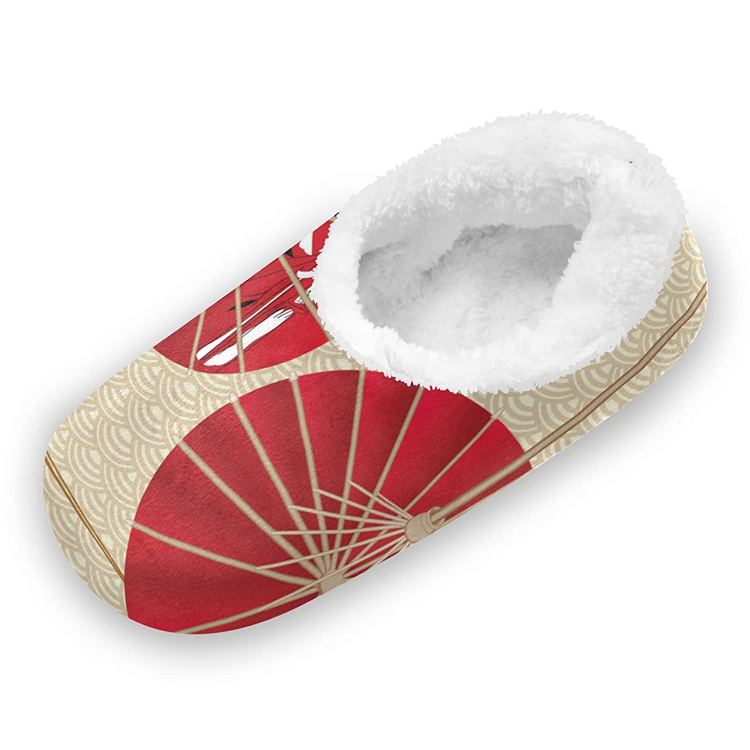 Japanese Red Umbrella Brand mart new Fuzzy Feet Women Cute for Slippers Coral
