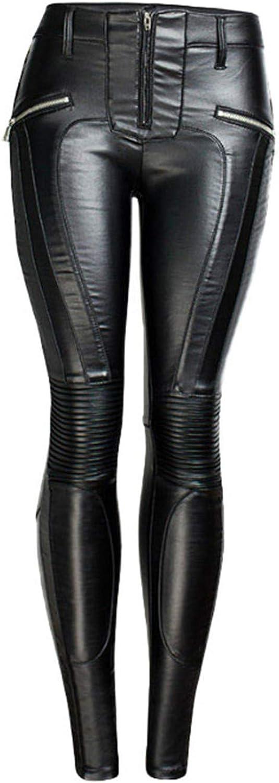 GTRFK Women online New life shopping Skinny Faux Leather Pants Zippers Moto Fake B Winter
