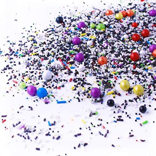 Out Of This World| Blue Green Orange Black White Galaxy New Year's Colorful Candy Sprinkles Mix For Baking Edible Cake Decorations Cupcake Topper Cookie Decorating Ice Cream Toppings, 20Z(Sample Size)