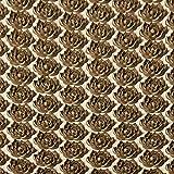 Sin marcaAlfombra de acupuntura de algodón de lino orgánico natural Alfombrilla de masaje Lotus Spike Cojín Estera de yoga Espalda / cuello 173cm * 61cm Marrón