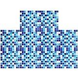 ShawFly 10 pegatinas para azulejos, diseño de mosaico 3D para cocina con salpicaduras, autoadhesivas, para cocina y baño, resistentes al agua y al desgaste (azul)