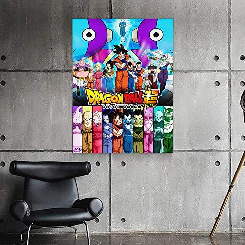 Puzzle 1000 Piezas Dragon Ball Image Blood Anime Goku Pintura Puzzle 1000 Piezas educa Gran Ocio vacacional, Juegos interactivos familiares50x75cm(20x30inch)