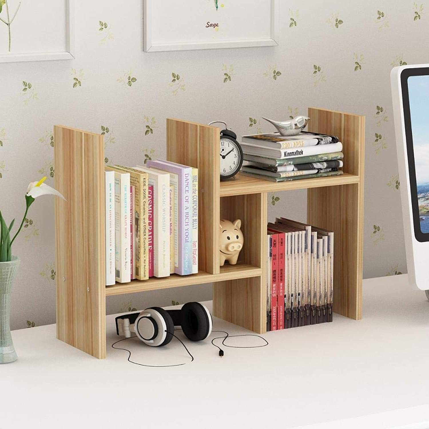 Yunfeng Bookshelf,Floor-Standing Multifunctional Rack Retractable Bookcase Small Office Storage Shelf