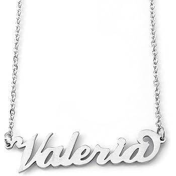 Silver Tone Zacria Gabriella Custom Name Necklace Personalized