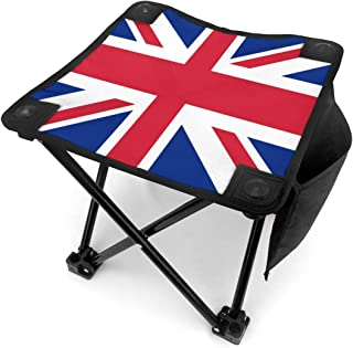 Camping Stool Folding United Kingdom UK Flag Portable Chair Camping Hunting Fishing Travel with Carry Bag