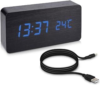 Multifunctional LED Digital Uhr Zeit Feuchtigkeit Temperaturanzeige Kalender