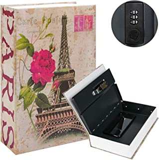 Kyodoled Diversion Book Safe with Combination Lock, Safe Secret Hidden Metal Lock Box,Money Hiding Box,Collection Box,9.5