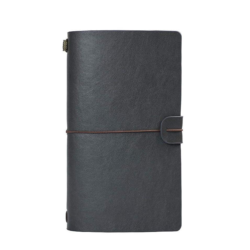 オフィスノート ノートA6メモ帳ビジネスルーズリーフノートレトロハンドブックさまざまな色 (Color : Gray, サイズ : 12*20cm)