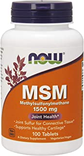 NOW, MSM 1500 mg 100 tabs