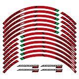 XIAOZHIWEN Motocicleta de 17 Pulgadas Borde Grueso Etiqueta Exterior Etiqueta de Ruedas de la Rotura de la Raya Compatible con A*pril*IA Dorsoduro 1200 hnxzw (Color : Red)