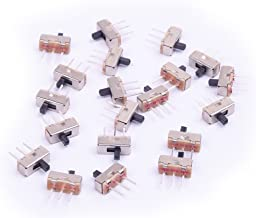 Cylewet 20Pcs 2 Position SPDT 1P2T Mini Vertical Slide Switch with 3 Pins PCB Panel for Arduino (Pack of 20) CYT1024