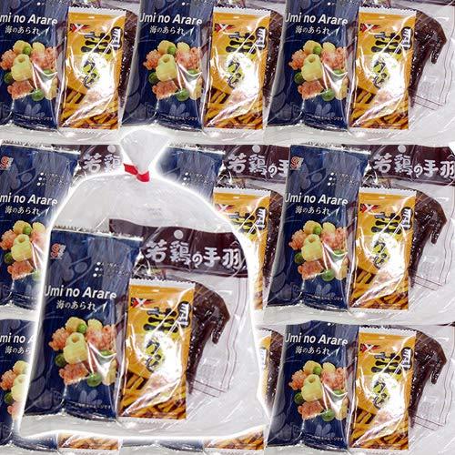 広島名物!若鳥の手羽 ブロイラーとせんじ肉入りおつまみお菓子袋詰め 20袋セット 詰め合わせ 駄菓子 おかしのマーチ